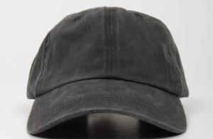 black worn out baseball cap