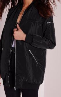 longline bomber jacket