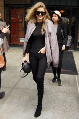 Gigi Hadid- Grey Bomber Jacket